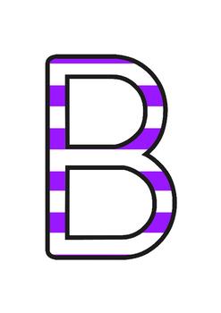 Australia - Stripey Purple Display Lettering