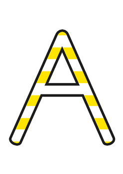Australia - Stripey Yellow Display Lettering
