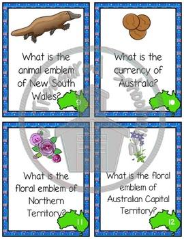 Australia Task Cards or SCOOT Game  #austeacherBFR