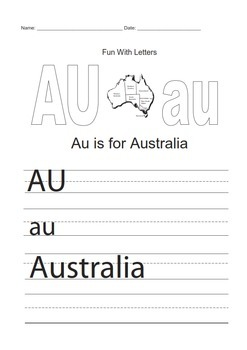 Australia Thematic Unit - Grades 1 - 2  - US English Version