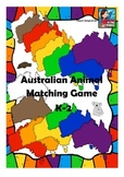 Australia Theme! Australian Animal Card Matching Game For K-2 Fun Activity