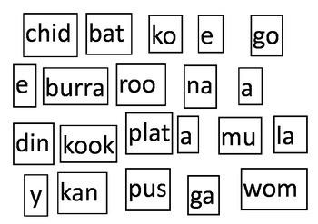Australia Theme! Australian Animal Syllable & Literacy Tasks K-3
