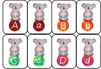 **FREE** Australia Themed Christmas Alphabet Watercolour Flashcards