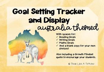 Australia Themed Goal Setting Tracker Display Reading Writing Maths