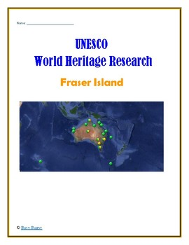 (Australia Geography) Australia UNESCO World Heritage Sites Project BUNDLE