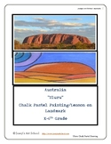 Australia Uluru Landmark Lesson Chalk Pastel Techniques EL