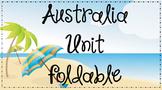 Australia Unit Foldable - Good for Interactive Notebooks!