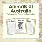 Australia Unit Study: Animals of Australia Information Cards