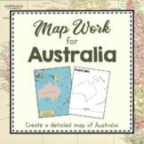 Australia Unit Study: Map Work for Australia