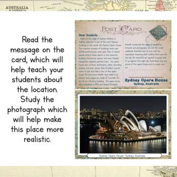 Australia Unit Study: Postcards of Australia
