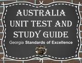 Australia Unit Test and Study Guide