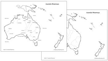 Australia Waterways Map