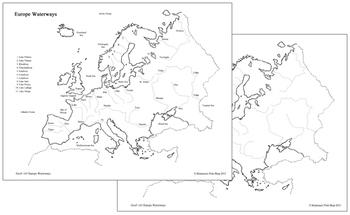 Europe Waterways Map