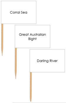 Australia Waterways Map Labels - Pin Map Flags
