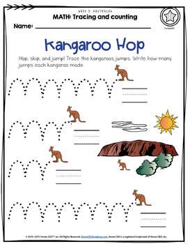 Australia - Week 5 Age 4 Preschool Homeschool Curriculum by Home CEO