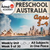 Australia - Weekly Unit for Preschool, PreK or Homeschool Preschool