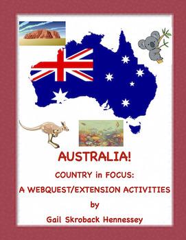 Australia: World in Focus(Webquest/Extension Activities)