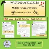 Australia: Writing Activities