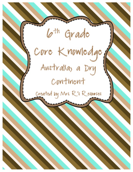 Australia, a Dry Continent (CK-World Deserts)