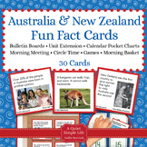 Australia and New Zealand Unit Activity - Fact Cards for Game, Bulletin Board
