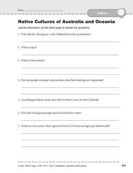 Australia and Oceania: Culture: Native Cultures