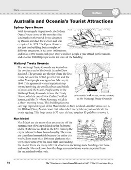 Australia and Oceania: Culture: Tourist Attractions