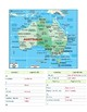 Australia and Oceania Labeling Map