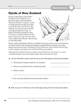 Australia and Oceania: Physical Features: Fjords of New Zealand