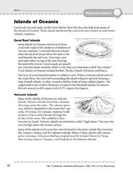 Australia and Oceania: Physical Features: Islands of Oceania