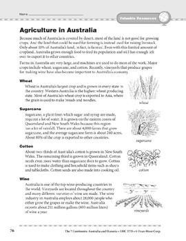 Australia and Oceania: Resources: Agriculture in Australia