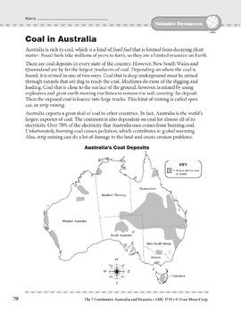 Australia and Oceania: Resources: Coal in Australia