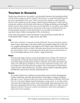 Australia and Oceania: Resources: Tourism in Oceania