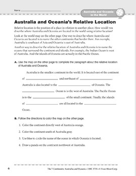 Australia and Oceania in the World