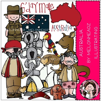 Australia clip art - COMBO PACK- by Melonheadz