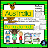 Australia Activities for Kindergarten: Australian Animals and More