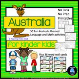 Australia Activities for Kindergarten: Australian Animals