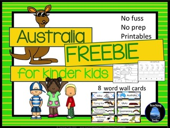 Australia for Kinder Kids FREE