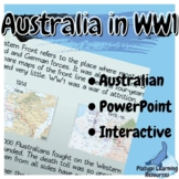 Australia in WW1 Year 9 and 10 History PowerPoint Resource