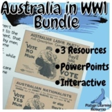 Australia in WW1 Year 9 and 10 History PowerPoint Resource Bundle