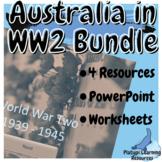 Australia in WW2 Year 9 and 10 History Bundle Australian C