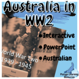 Australia in WW2 Year 9 and 10 History PowerPoint Resource