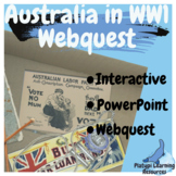 Australia in World War One PowerPoint WebQuest