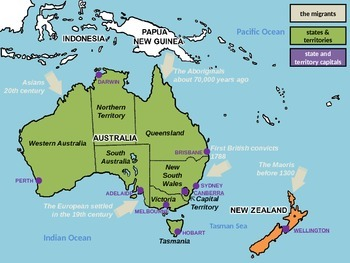 Interactive Map Of Australia.Australia Interactive Map And Quiz By Cindy Mathieu Tpt