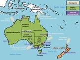 Australia - interactive map and quiz