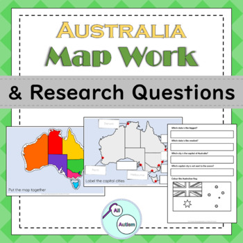 Australia map work and research questions