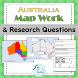 Australia map work and research questions for Autism and Special Education