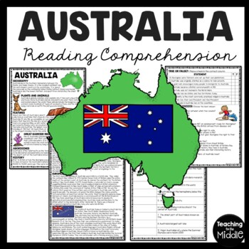 Australia Reading Comprehension Article, history, Aborigines, cities