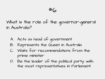 Australia's Governement