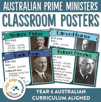 Australia's Prime Ministers Classroom Decor Posters