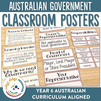 Australia's Government Classroom Decor Posters